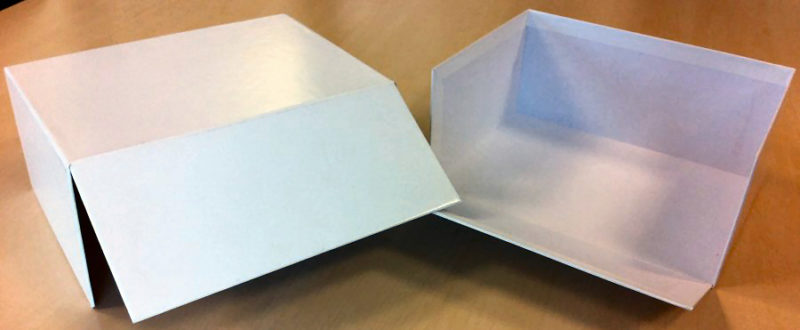Three Sided Box with Flap